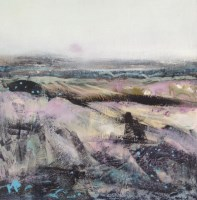 Lot 123 - MAY BYRNE, WINTER FIELDS mixed media, signed...
