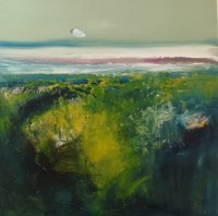 Lot 166 - MAY BYRNE, SPRING GORSE mixed media, signed...