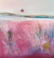 Lot 216 - MAY BYRNE, IN THE PINK mixed media, signed...