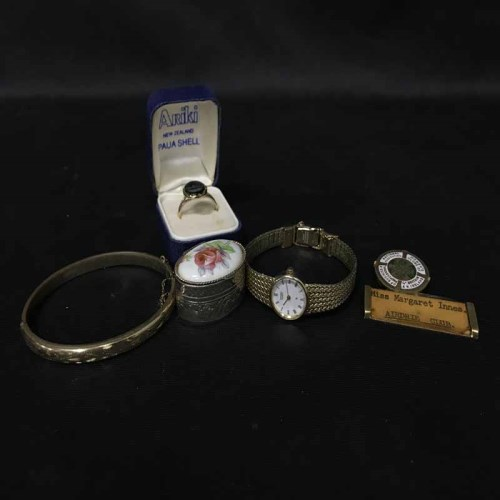 Lot 21 - LOT OF COSTUME JEWELLERY including a pocket watch