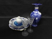 Lot 23-SABINO GLASS DISH, CROWN DERBY PLATE, WEDGWOOD...