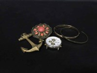 Lot 26-LOT OF COSTUME JEWELLERY including Danish silver...