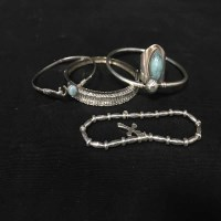 Lot 42-LOT OF SILVER JEWELLERY including rings and a...