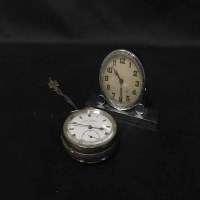 Lot 43-ACME LEVER WHITE METAL CASED POCKET WATCH...