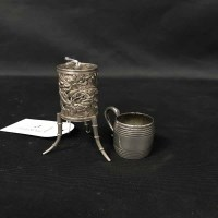 Lot 47-CHINESE SILVER SOLIFLEUR VASE with pierced...
