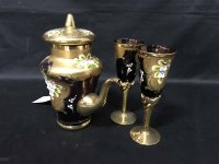 Lot 64 - GILT CONTINENTAL COFFEE SERVICE comprising...