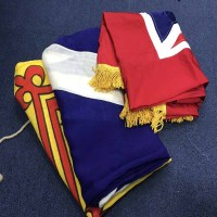 Lot 70 - GROUP OF THREE FLAGS including the Lion...