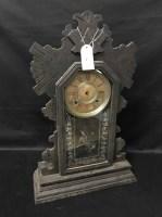 Lot 78 - 19TH CENTURY AMERICAN 'GINGERBREAD' MANTEL CLOCK