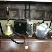 Lot 90 - BRASS HAND BELL along with a vintage Polaroid...