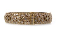 Lot 197-ORNATE DIAMOND AND ENAMEL BANGLE set with flat...