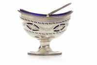 Lot 801-GEORGE III SILVER SUGAR BASKET maker Thomas...