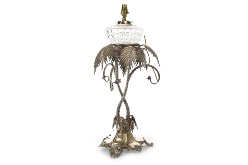 Lot 802-VICTORIAN SILVER PLATED TABLE CENTRE PIECE formed ...