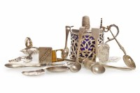 Lot 849-VICTORIAN SILVER CONDIMENT JAR maker James and...