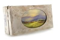 Lot 858-GEORGE V SILVER CIGAR BOX maker Sanders &...