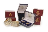Lot 911 - SET OF FOUR MAPPIN & WEBB SILVER NAPKIN RINGS...