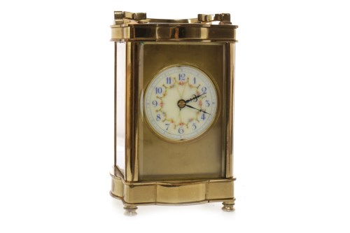 Lot 1401-LATE VICTORIAN CARRIAGE CLOCK the movement by...
