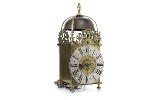 Lot 1404-BRASS AND STEEL LANTERN CLOCK OF 17TH CENTURY...