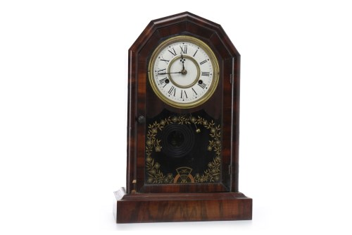 Lot 1418-LATE 19TH CENTURY AMERICAN MANTEL CLOCK two...