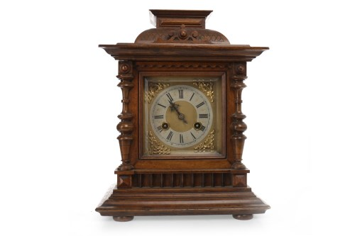 Lot 1420-VICTORIAN MANTEL CLOCK the two train movement by...