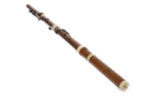 Lot 1421-19TH CENTURY FRUITWOOD FLUTE by G. French, 67cm...