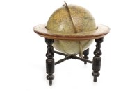Lot 1428-VICTORIAN TERRESTRIAL TABLE GLOBE BY JOHNSTON'S...