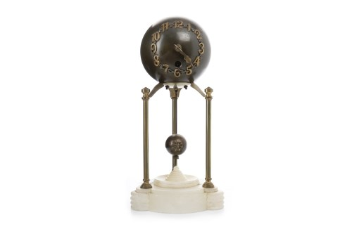 Lot 1441 - VICTORIAN MYSTERY CLOCK the one train movement...