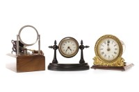 Lot 1445-TWO EARLY 20TH CENTURY BEDSIDE TIMEPIECES one...