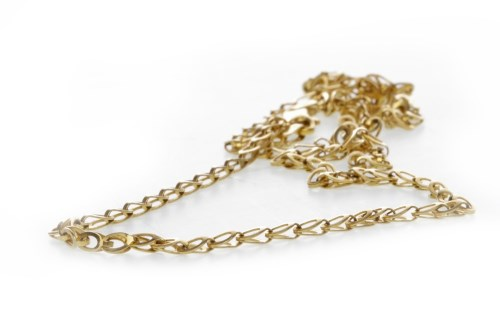 Lot 507-GOLD CHAIN NECKLACE approximately 40cm long,...
