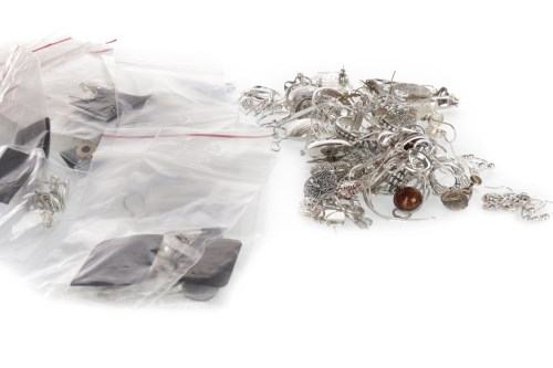 Lot 522-GROUP OF SILVER EARRINGS most marked 925, to...