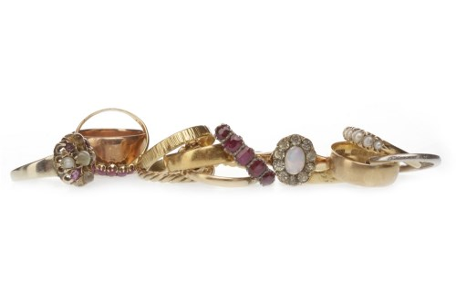 Lot 526 - GROUP OF VICTORIAN AND OTHER RINGS including...