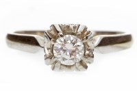 Lot 576 - DIAMOND SINGLE STONE RING 1960s, with a round...