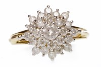 Lot 688 - DIAMOND DRESS RING the large tiered snowflake...