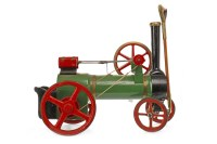 Lot 1626-CARVED MODEL OF A STEAM ENGINE lacquered black,...