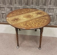 Lot 1666 - ATTRACTIVE MAHOGANY AND FLORAL MARQUETRY OVAL...