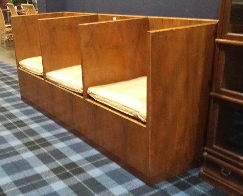 Lot 1679-INTERESTING ART DECO WALNUT VENEERED SQUARE...