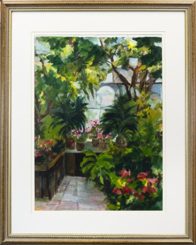 Lot 6-* ANNE MENDELOW, KIBBLE PALACE watercolour on...