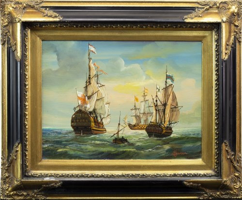 Lot 15-* LUCIE LEMONNIER (FRENCH 1865 - 1950), SHIPS IN...