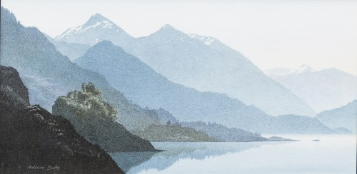 Lot 34-* MALCOLM BUTTS, LOCH DUICH watercolour on paper, ...