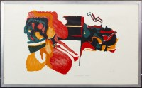 Lot 59-CONTEMPORARY SCHOOL, ABSTRACT woodcut, signed,...