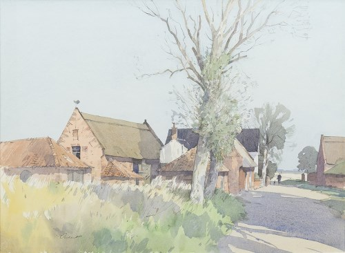 Lot 80-* STANLEY ORCHART (BRITISH 1920 - 2005), FARM AT...