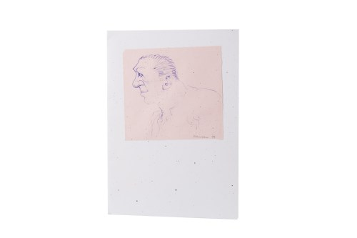 Lot 91-* PETER HOWSON OBE, CHRISTMAS CARD pen on card...