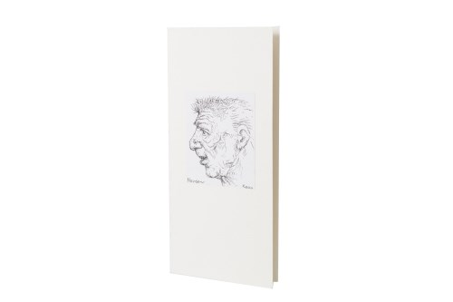 Lot 93-* PETER HOWSON OBE, CHRISTMAS CARD pen on paper...