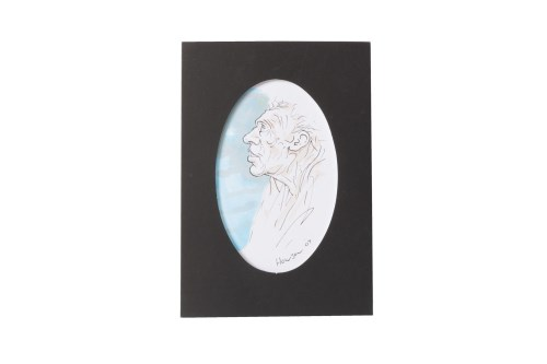 Lot 94-* PETER HOWSON OBE, CHRISTMAS CARD pen and wash...