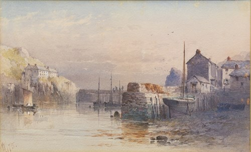 Lot 107-CHARLES WHYMPER (BRITISH 1853 - 1941), HARBOUR...