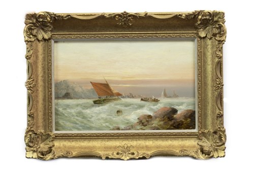 Lot 120-FRANK MAY (BRITISH exh 1882 - 1895), LIFEBOATS...