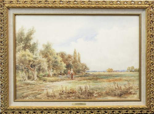 Lot 121-HENRY H PARKER (BRITISH 1858 - 1930), RURAL SCENE ...