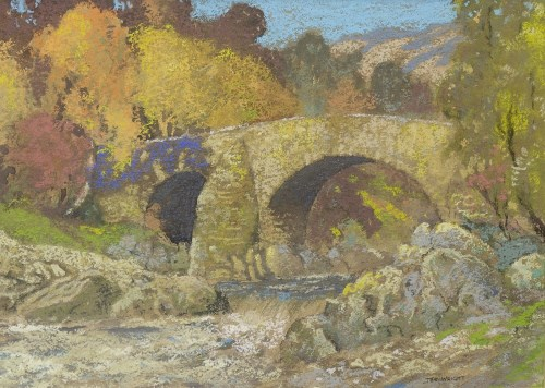 Lot 137-SCOTTISH SCHOOL, THE WRIGHT pastel on paper,...