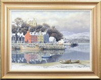 Lot 149-* MALCOLM BUTTS, TOBERMORY oil on canvas, signed...