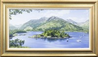 Lot 154-* MALCOLM BUTTS, BISHOP'S BAY, LOCH LEVEN oil on...