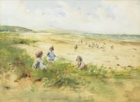 Lot 169-TOM PATERSON (SCOTTISH 20TH CENTURY) BEACH SCENE...